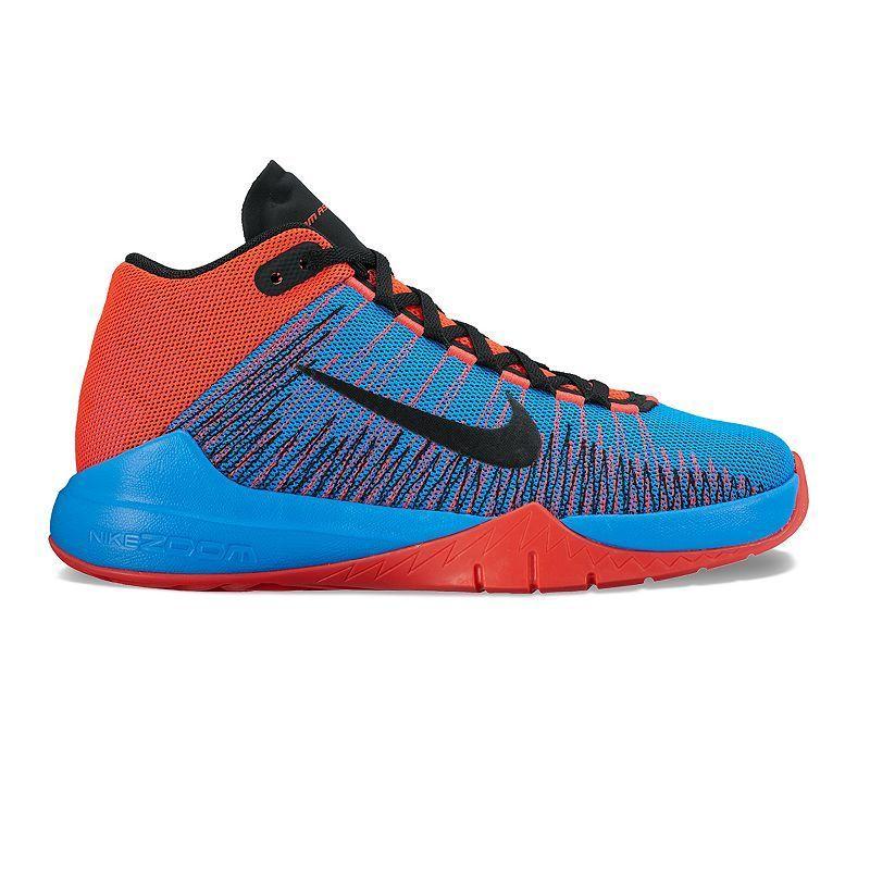 df3b0cee9746 Nike Zoom Ascension Grade School Boys  Basketball Shoes