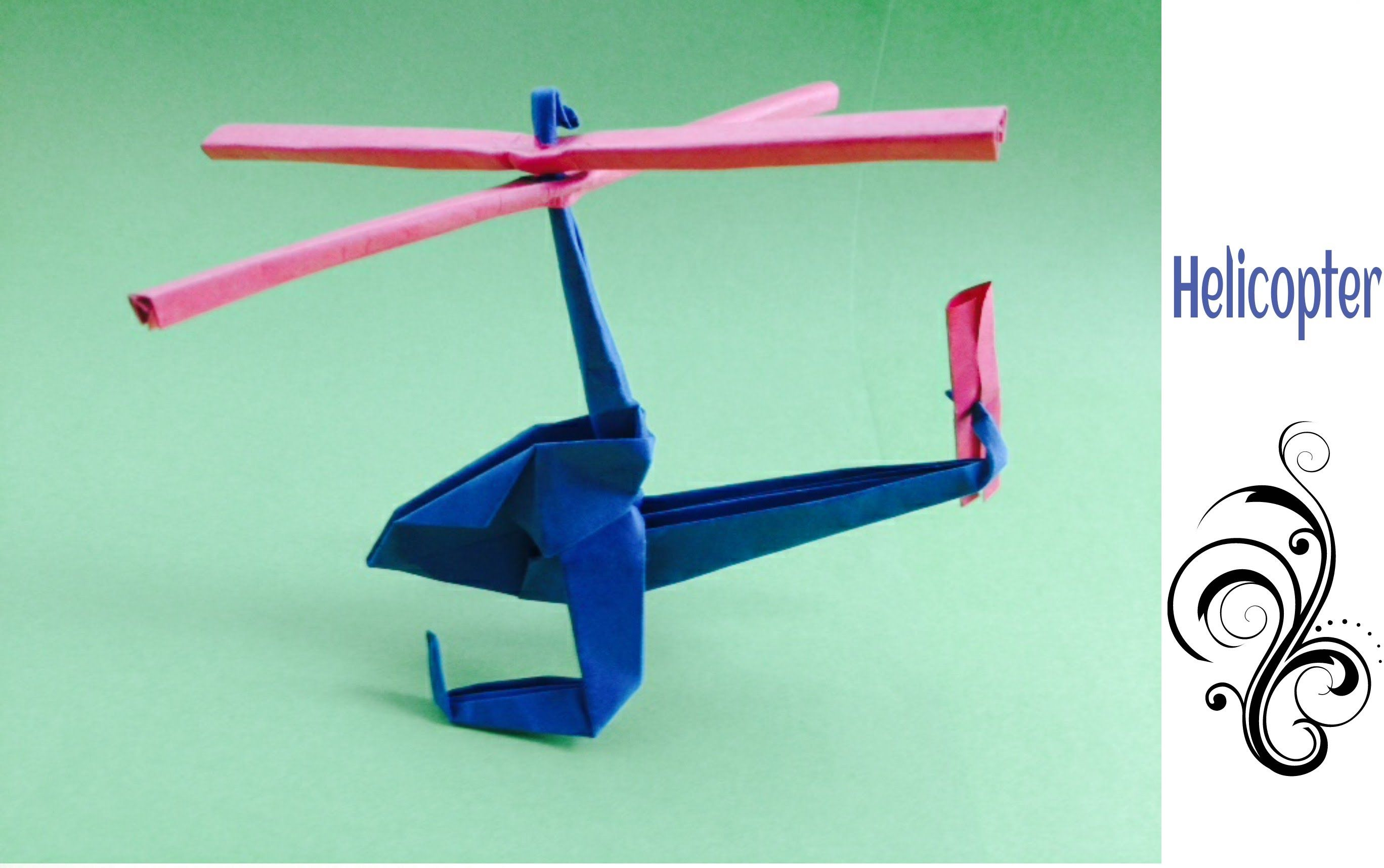 how to make a paper helicopter easy