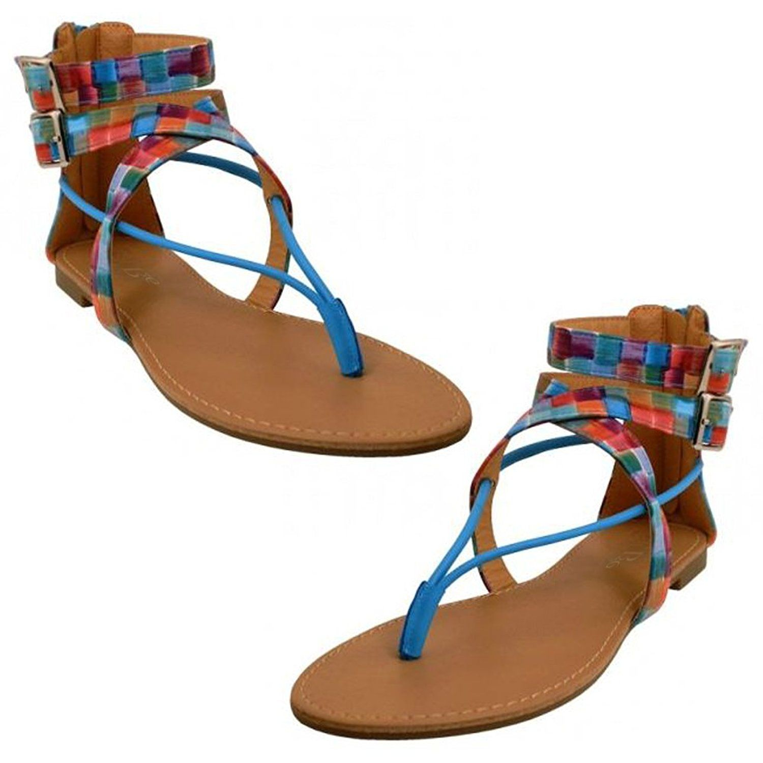 e44f07ceb669 P26 Womens Roman Gladiator Sandals Flats Thongs Shoes   Learn more by  visiting the image link