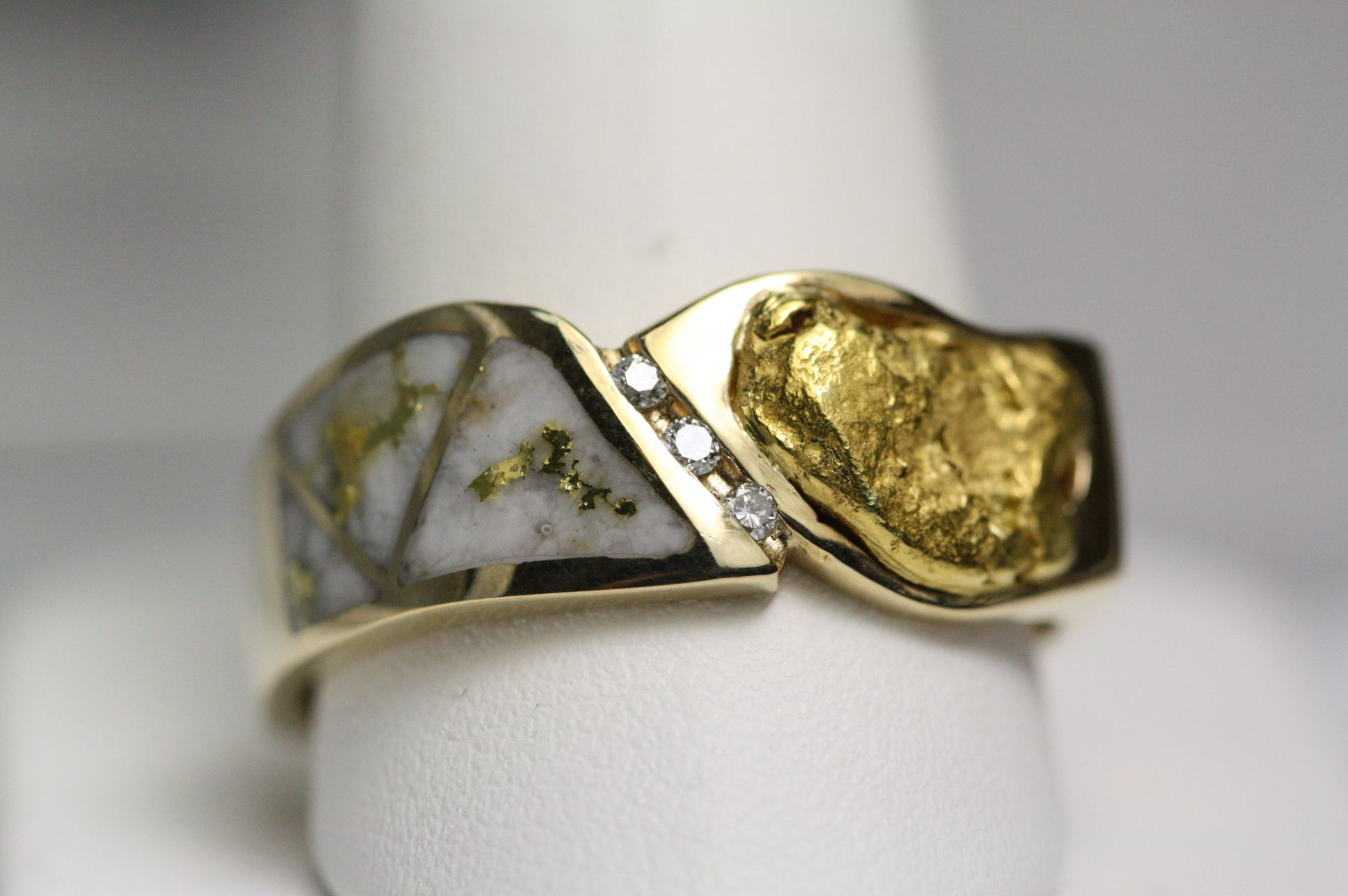 garnered shop product order made jewellery rings rutilated gold to yellow quartz the peacock rebecca ring