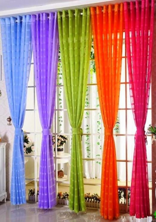 Colors Of The Rainbow Curtain Decor Colorful Curtains Purple Curtains
