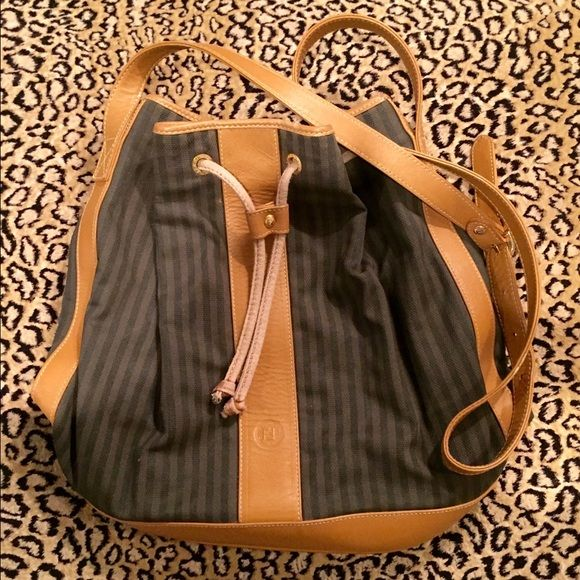 d7a9c7580248 ... top quality authentic vintage fendi pequin bucket bag this is a  beautiful super rare 100 authentic ...