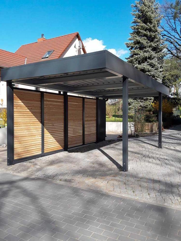 Carport Mit Sichtschutz In 2020 Carport Aussengestaltung Fassadengestaltung
