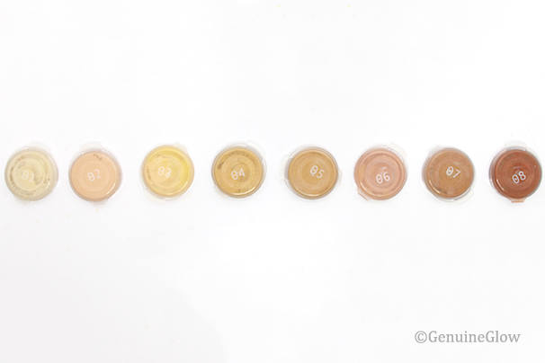 Gressa Foundation Shades Swatches Foundation shades