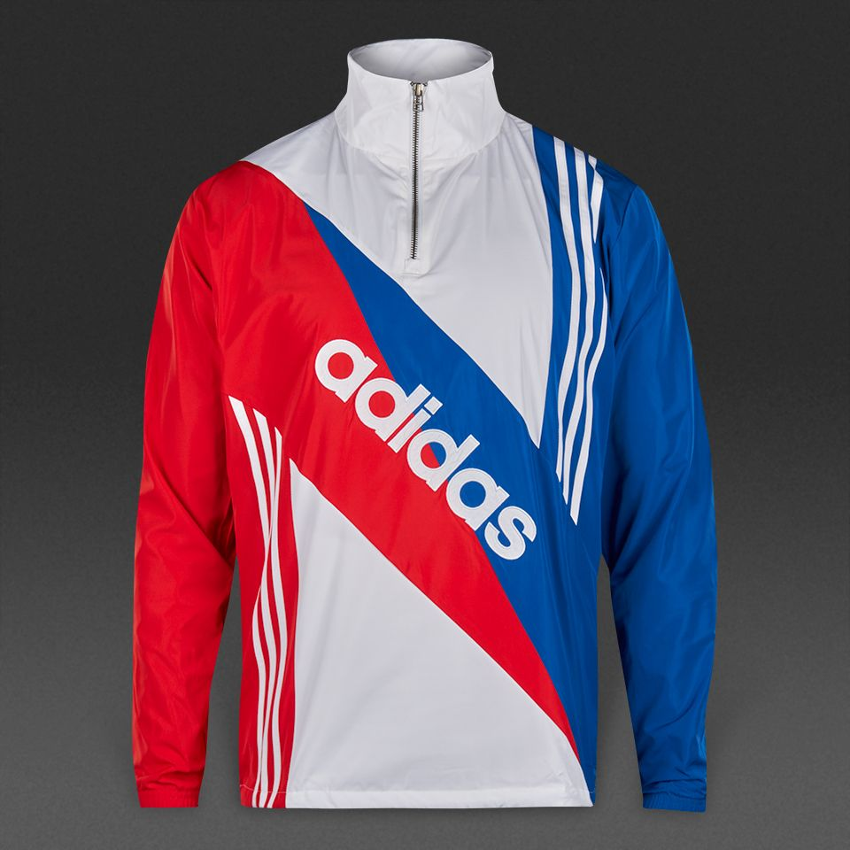 adidas Originals Linear Windbreaker Jacket - Blue | Mens fashion ...