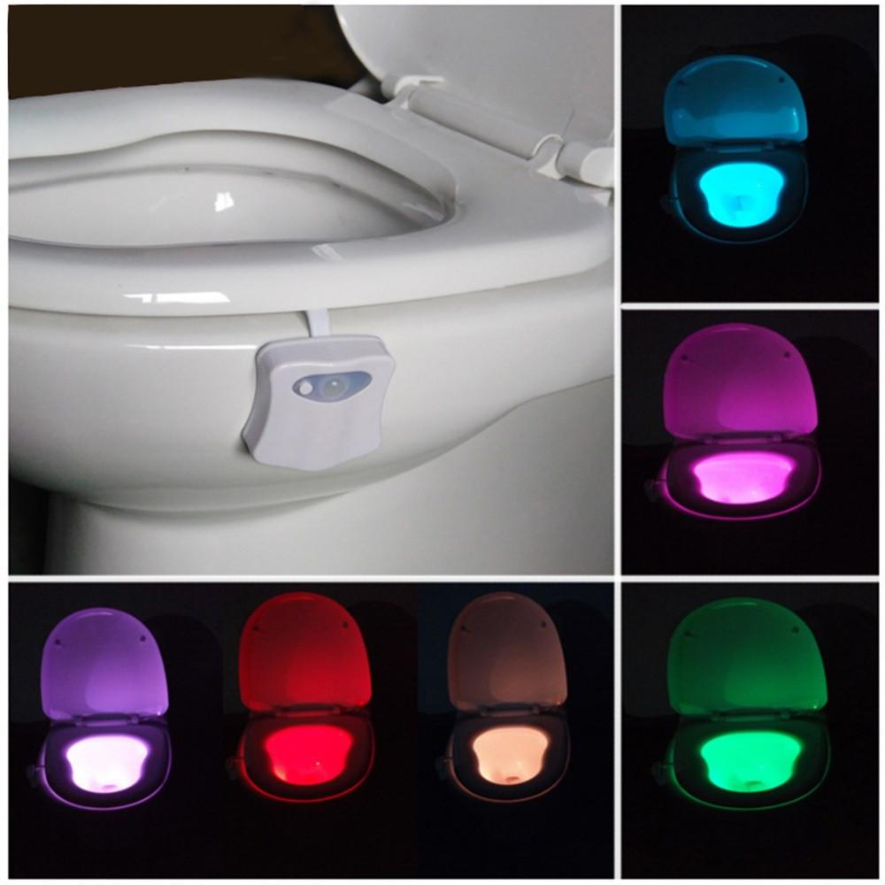 Motion Activated Toilet Night Light 8 Color Changing Led Toilet
