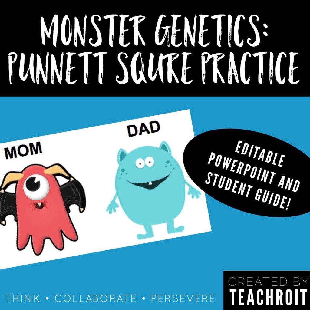 Monster Genetics Punnett Square Practice
