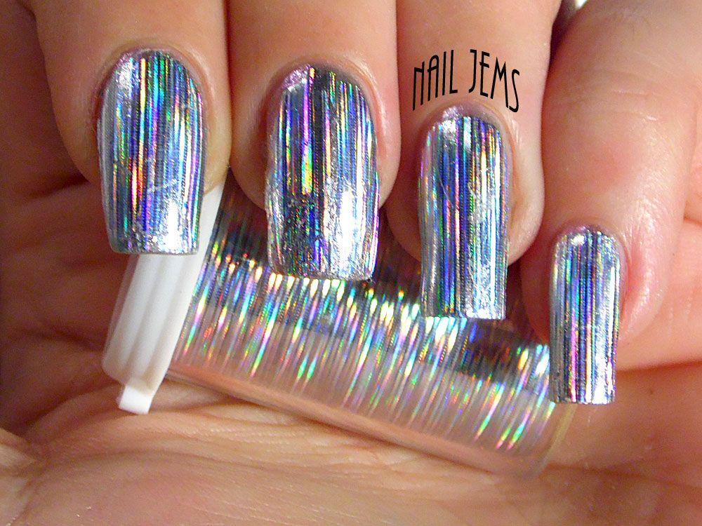 Nail Jems: Fibre Optics Nail Foils!   iridescent nails   Pinterest ...
