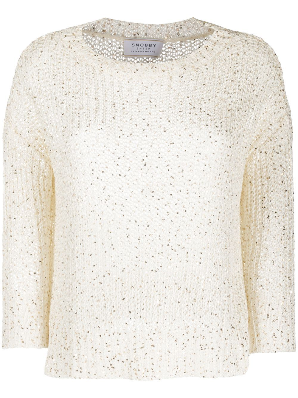 Snobby Sheep crew neck chunky knit jumper - White