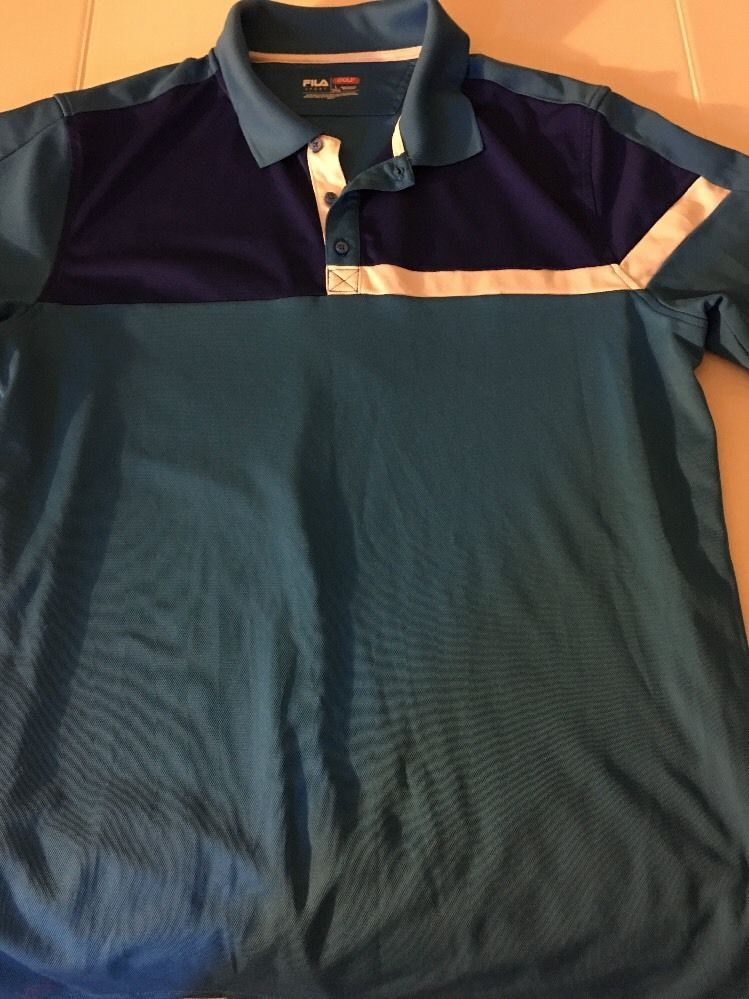 check out 182b2 c9ab7 Fula Sport Men s Large Tall Golf Shirt  FilaSports