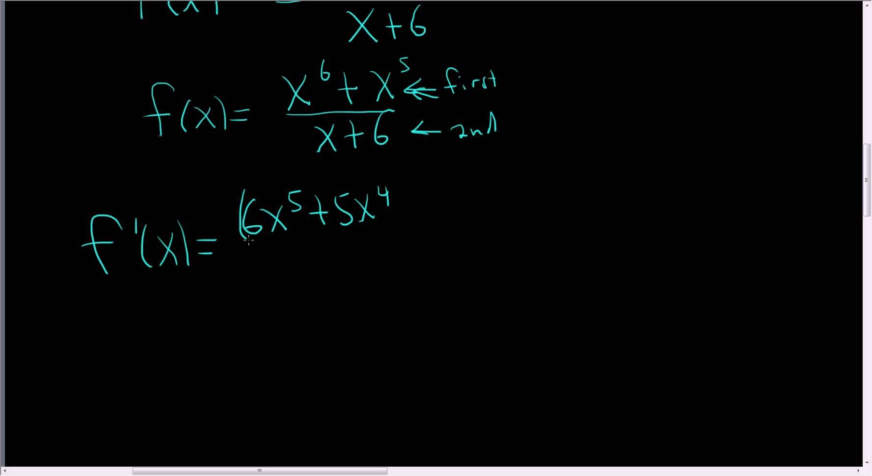 Calculus Using The Quotient Rule To Find The Derivative Of