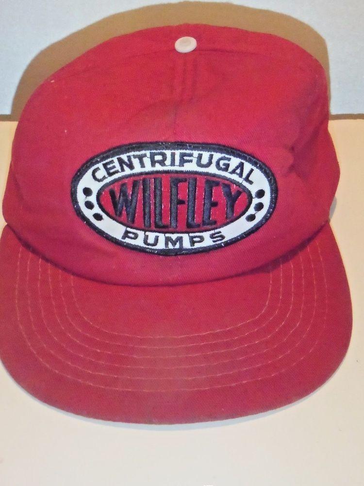 VTG Centrifugal Wilfley Pump SnapBack Hat Red HTF Cardinal  Cap d7b9a5617fc9