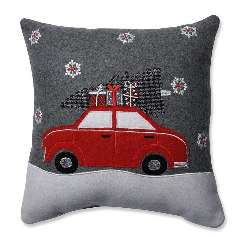 Pillow Perfect Gift Car Grey Red 16 Inch Throw Pillow Red Throw