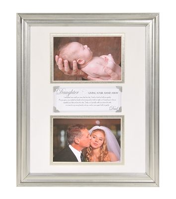 Giving Your Hand Away Wedding Keepsake Frame | For my Daughter ...