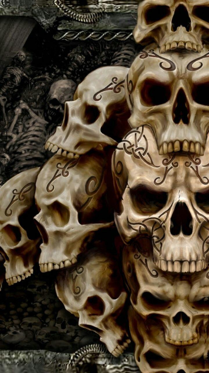 Картинки на телефон прикольные черепов, пиратов девушек