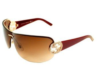 4705b48cbbd Gucci Sunglasses GG 4224 S X5771 Acetate plastic - Rhinestones Copper Gold  Red Gradient Brown Gucci.  258.38