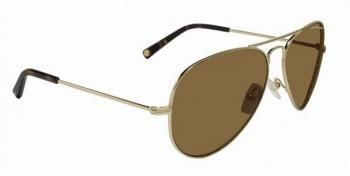 752b2b1969bc2  211 Gafas de sol de mujer Michael Kors - tipo aviador de montura metálica  dorada y cristales marrones