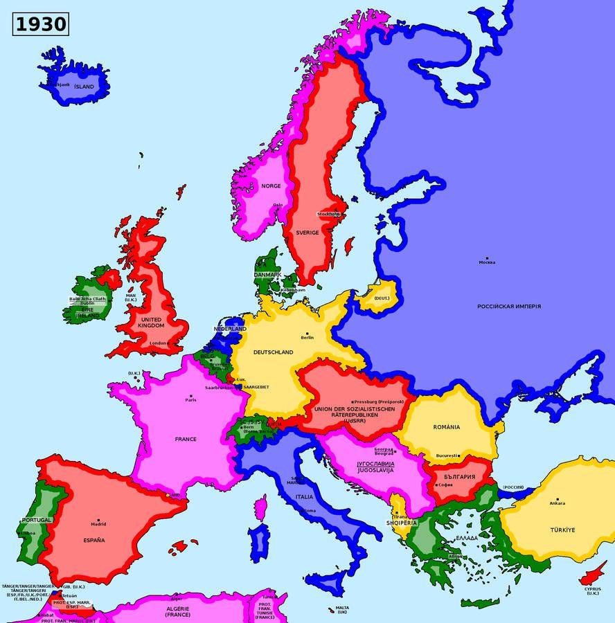 Map Of An Alternate Interwar Europe 1930 By Matritum Historia