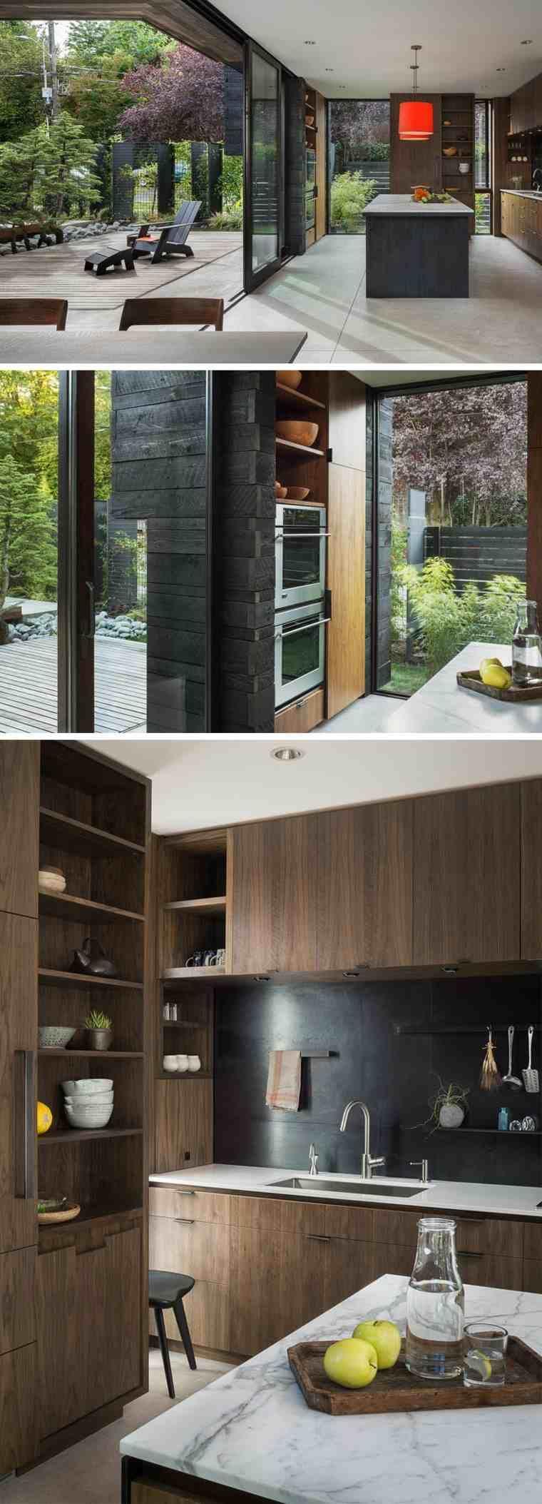 une cour int rieure faisant partie de cette maison ultra moderne seattle maison pinterest. Black Bedroom Furniture Sets. Home Design Ideas