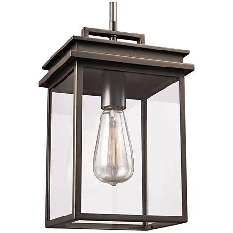 Feiss Chappman 13 High Antique Bronze Outdoor Hanging Light 18y78 Lamps Plus Outdoor Pendant Lighting Outdoor Pendant Outdoor Hanging Lights