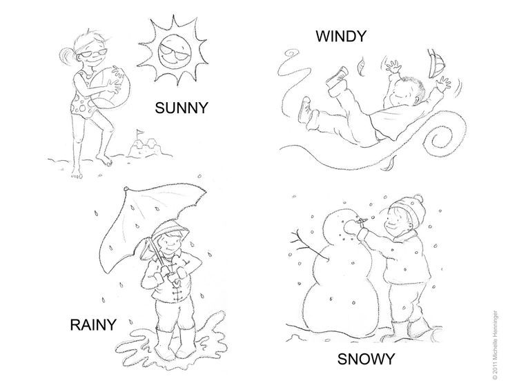 rain coloring pages for preschoolers 02 | 입을 만한 것 | Pinterest