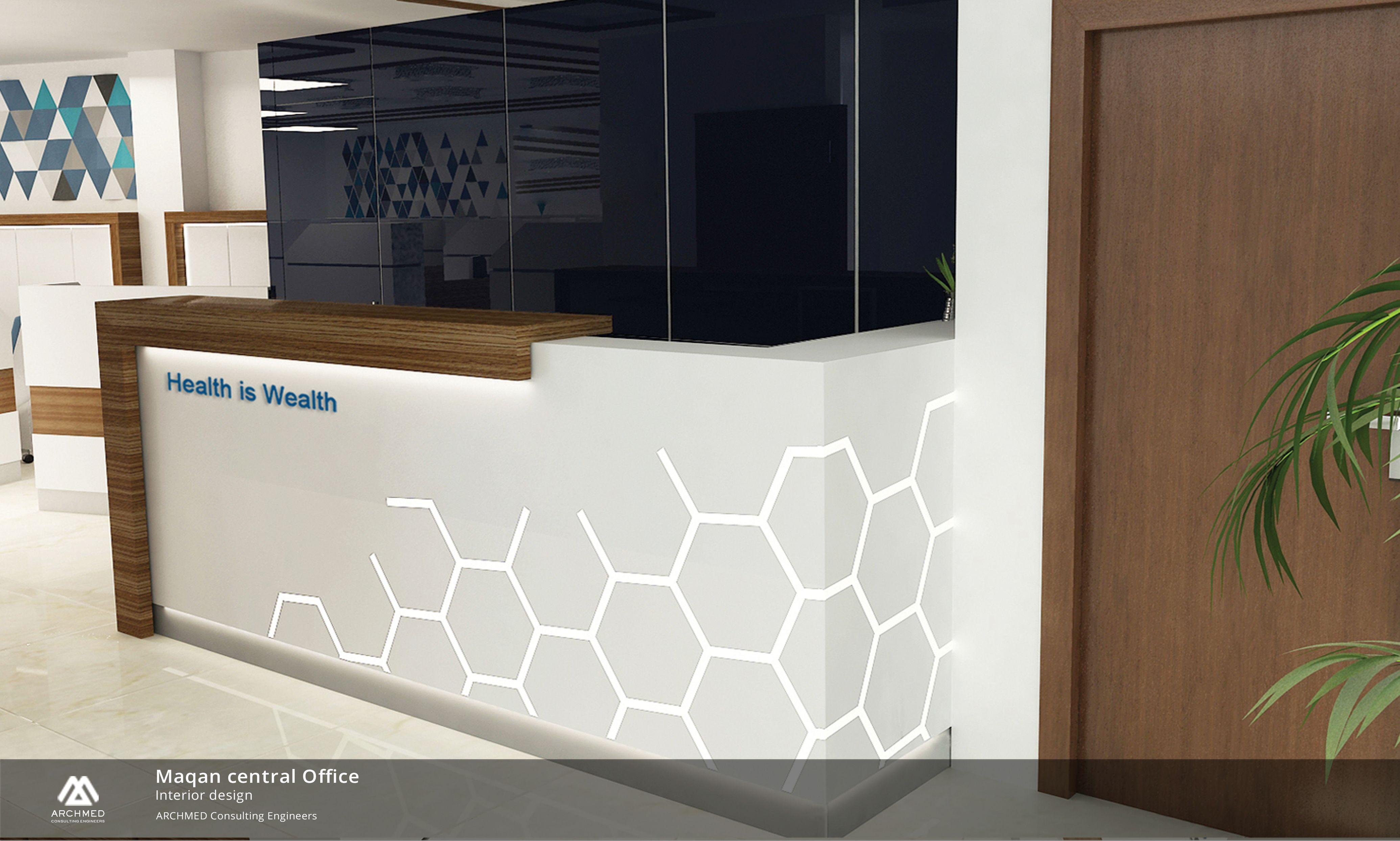 Maqan Office Design طراحي معماري داخلي دفتر اداري ماكان Architecture Hospital Medical Decoration Office Interior Design Office Interiors Interior Design