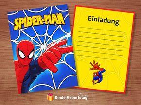 spiderman einladungskarten zum tollen spiderman kindergeburtstag, Einladungsentwurf