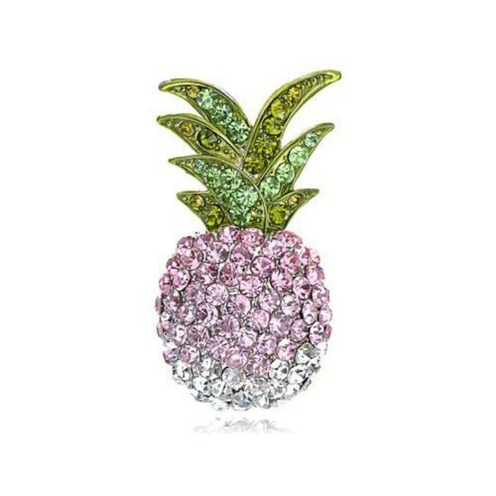 Pineapple Crystal Pin