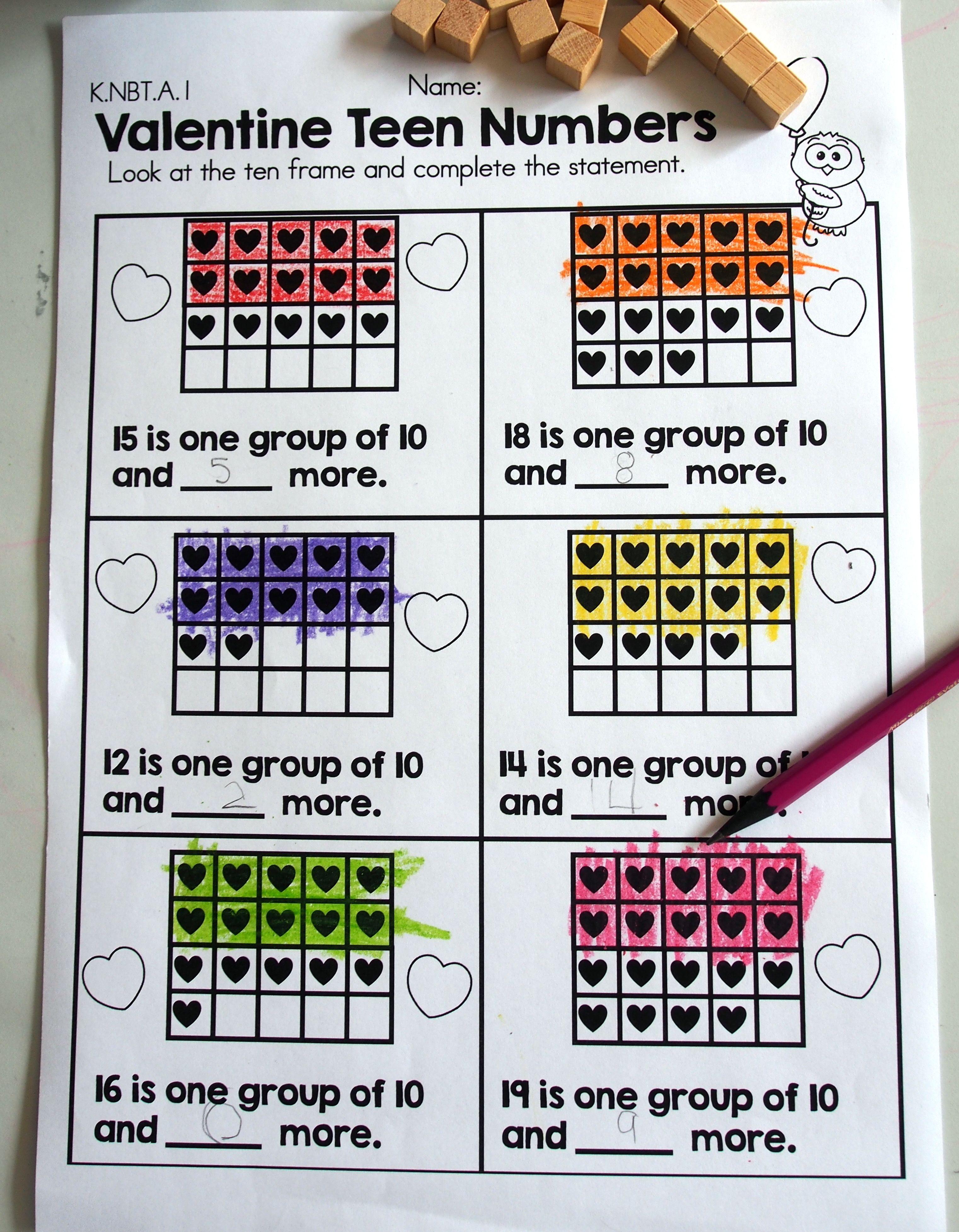 Valentine S Day Kindergarten Math Worksheets Kindergarten Math Number Worksheets Kindergarten Homeschool Math [ 3909 x 3043 Pixel ]