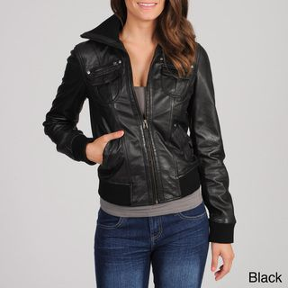 Whet blu Women's Leather Bomber Jacket | Nice, Places and Leather ...