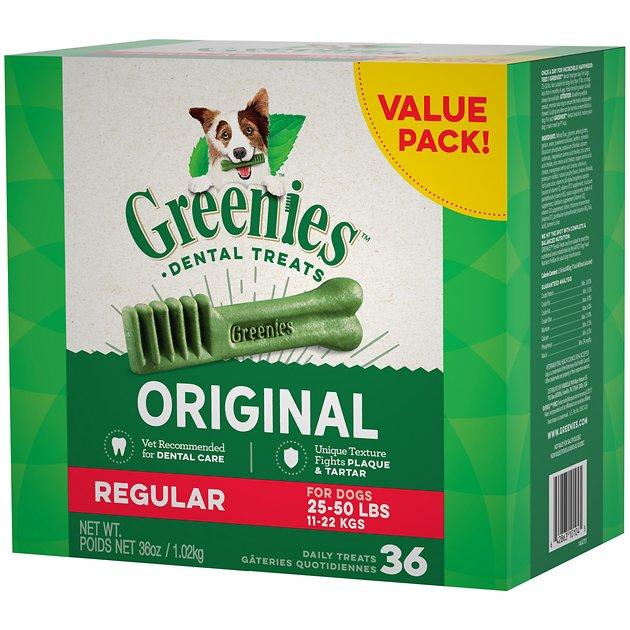 Greenies Regular Dental Dog Treats 12 Count Chewy Com Dental Treats Greenies Greenies Dog Treats