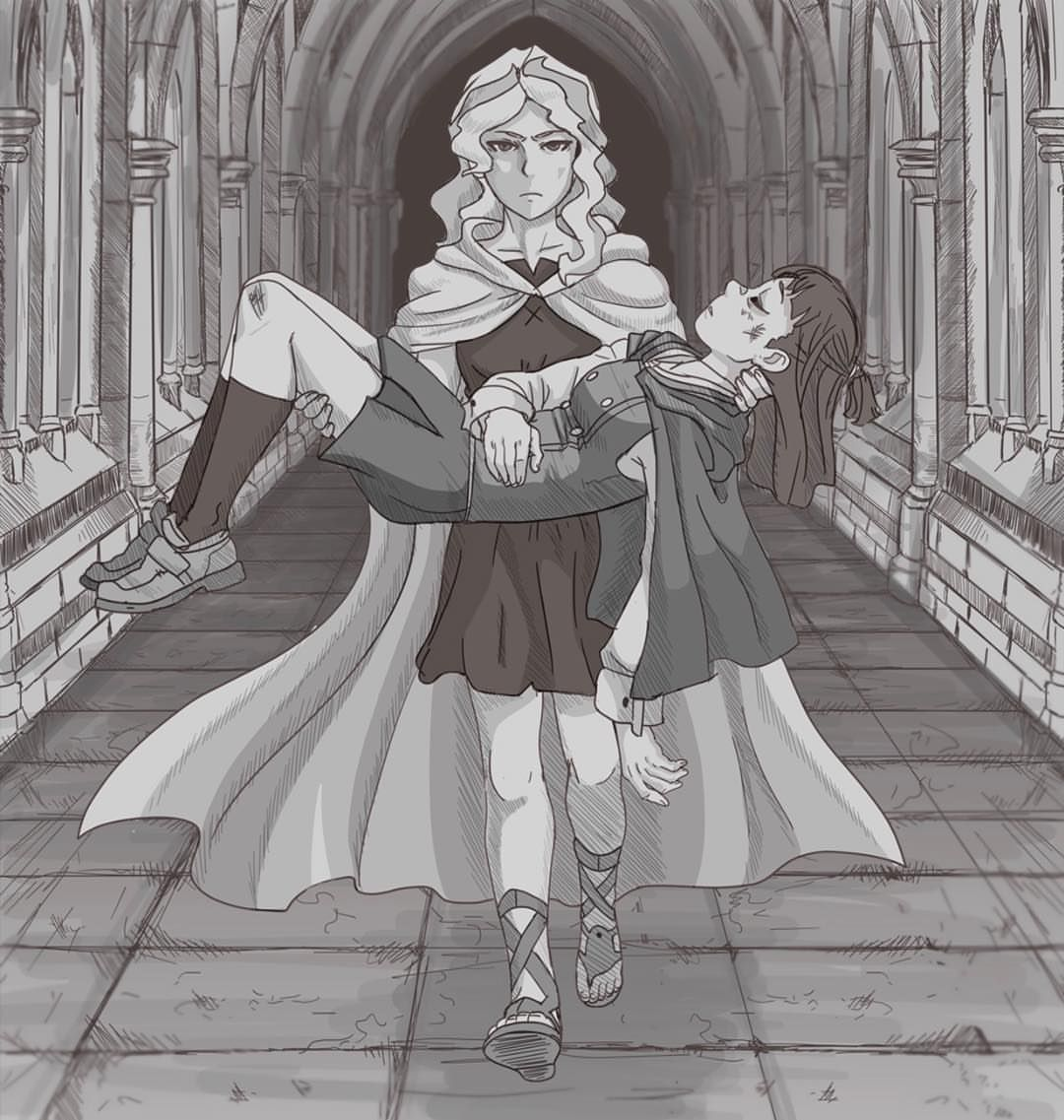 I Like To Think That In Episode 20 Diana Had To Carry Akko To