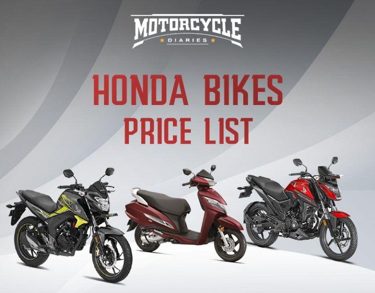 Honda bikes price list 2019 Honda Activa, Shine 125