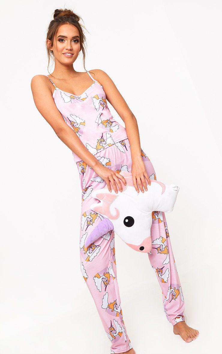 Lace Hem Ribbed Pajama Set Nude   Missguided