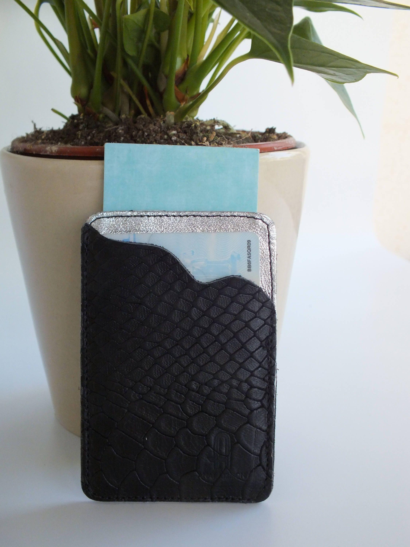 Black silver anaconda business card Case custom card Case Gift for ...
