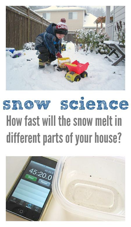 Snow Science Experiment for Kids - No Time For Flash Cards