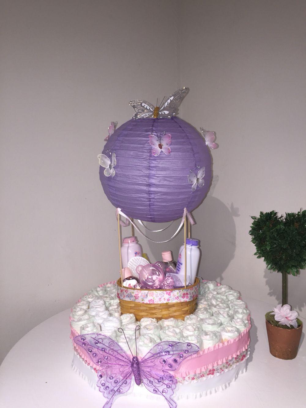 Hot air balloon diaper cake cakes pinterest