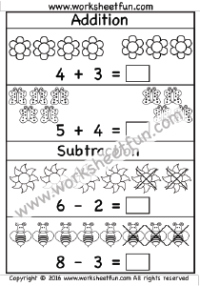 mixed addition subtraction 5 worksheets kindergarten worksheets. Black Bedroom Furniture Sets. Home Design Ideas