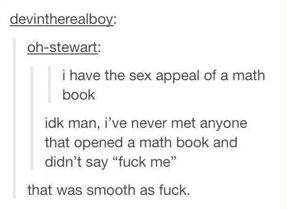Sex appeal of a math book, tumblr funny