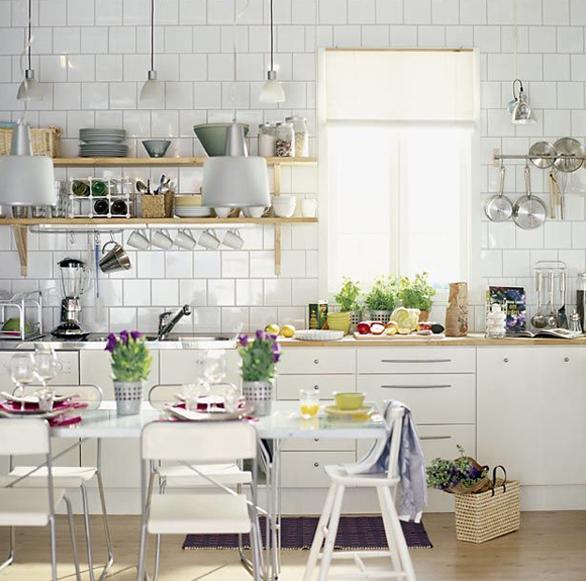 北欧キッチン雑貨収納 オープン食器棚のおしゃれな収納方法 キッチン