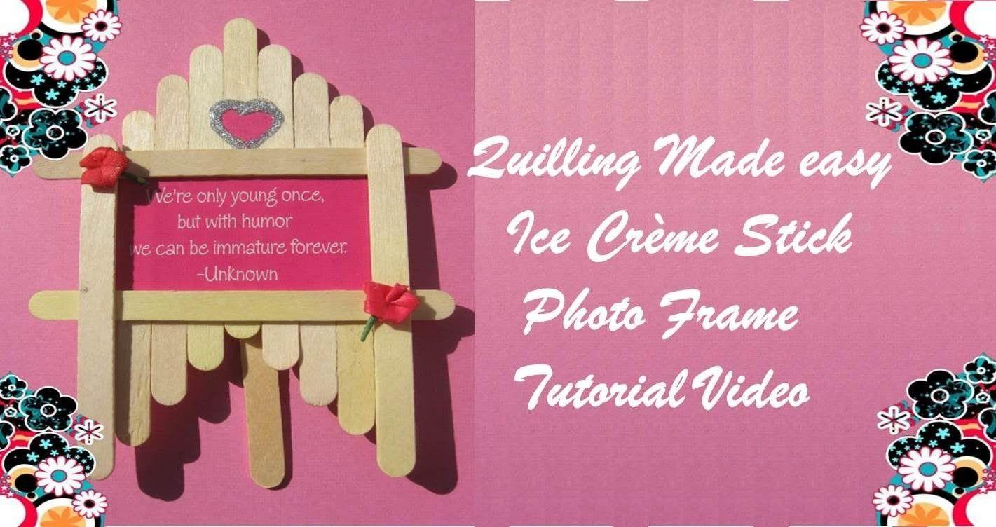 DIY Craft Ideas - Make Green Colored Photo Frame Ice cream Sticks ...