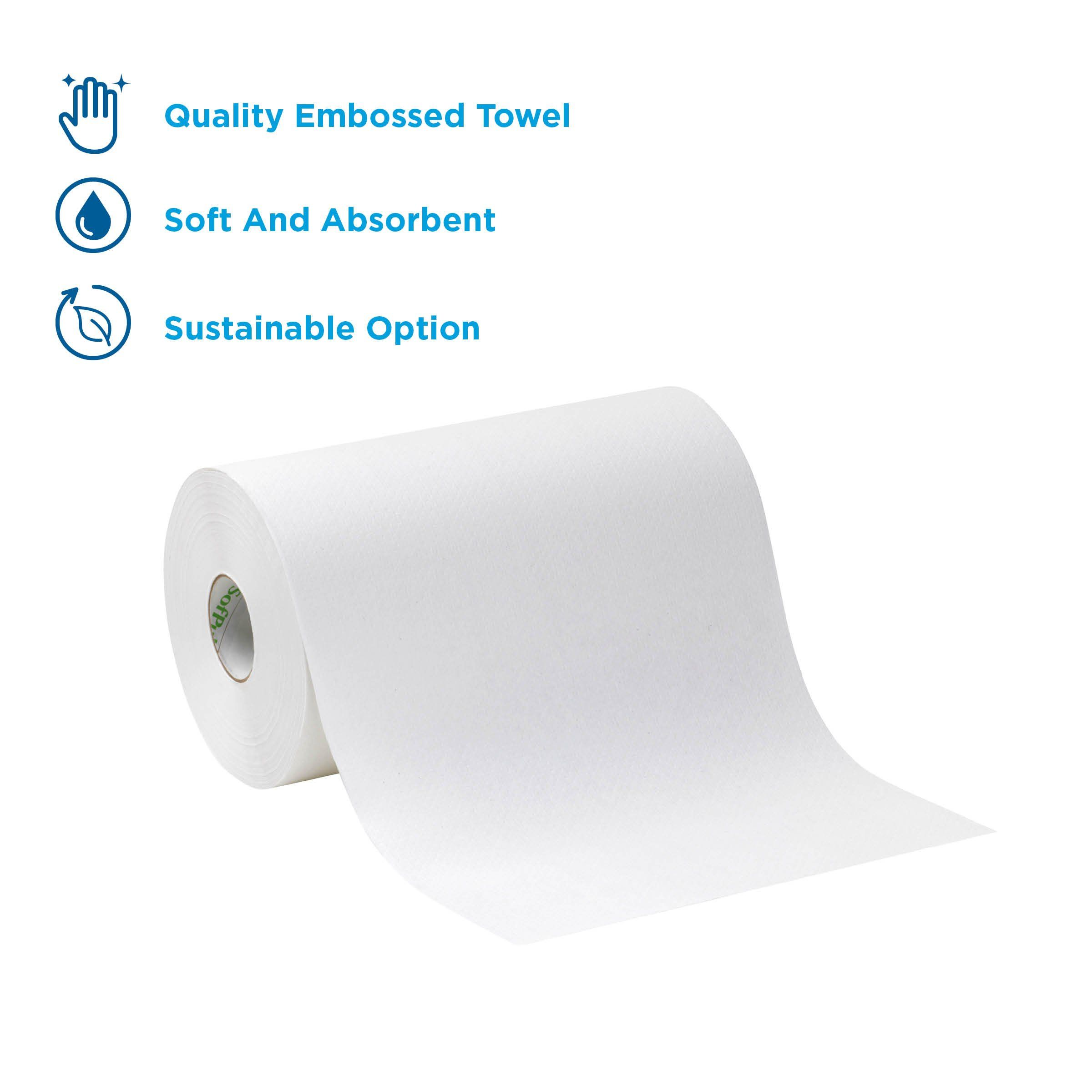 Sofpull 9a Paper Towel Roll By Gp Pro Georgiapacific White 26610 400 Feet Per Roll 6 Rolls Per Case To View Further Fo Paper Towel Rolls Paper Paper Towel