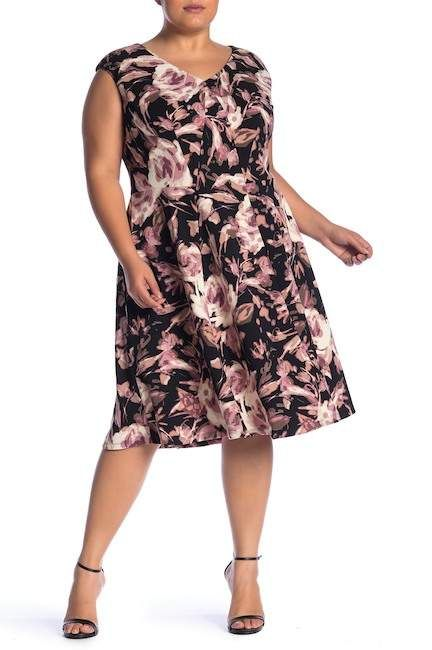 London Times Womens Fit and Flare Dress