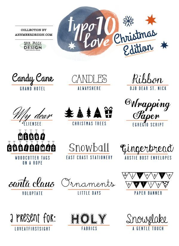 fonts for christmas | typogragphy | Pinterest | Schrift ...