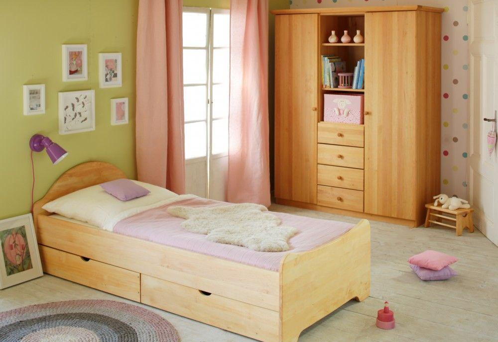 Lena Kleiderschrank, Massivholz Erle Wohnung einrichten