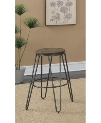 Furniture Mandy Farmhouse Bar Stool Set Of 2 Reviews Furniture Macy S Bar Stools Counter Height Stools Stool