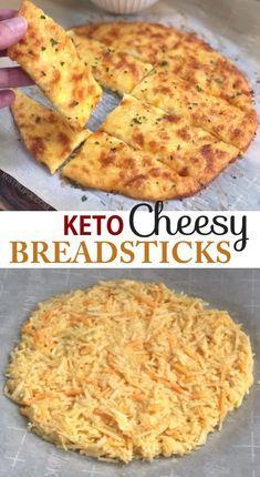 Photo of Keto Cheesy Garlic Breadsticks (4 Ingredients)