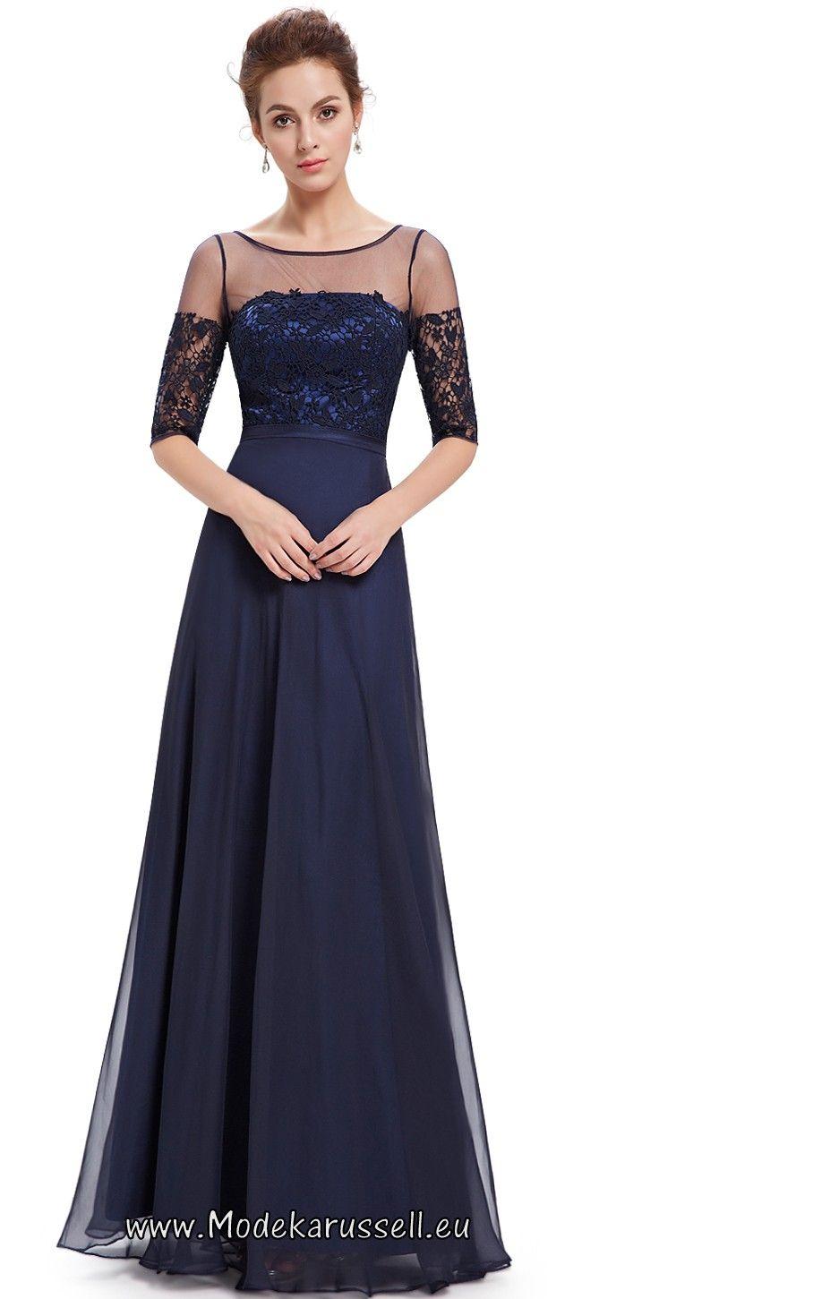 Halbarm Vintage Maxi Abendkleid 2017 Soraya Dunkelblau | vestidos ...