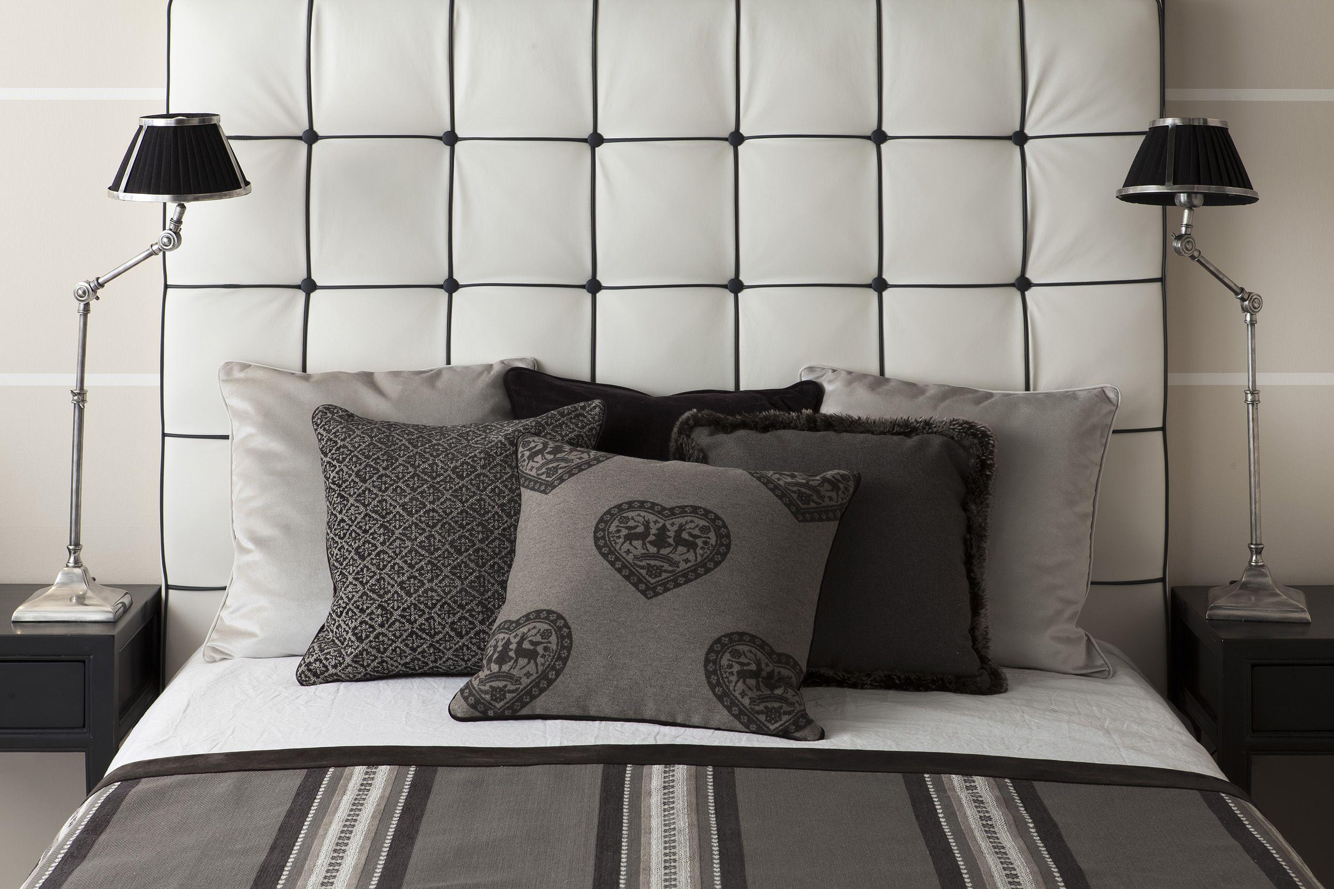 Auch im Schlafzimmer sollte die Farbe GRAU nicht fehlen