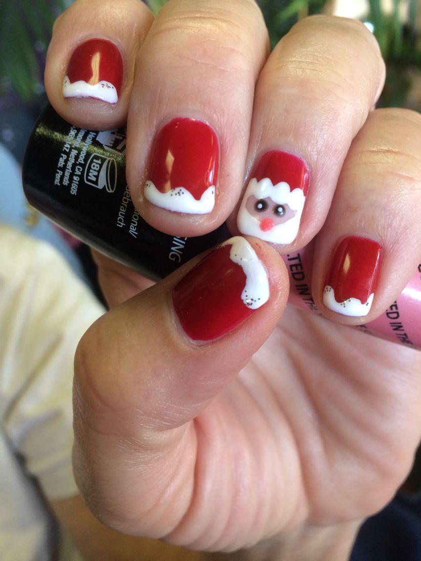Christmas santa nails cute holiday nail art using opi gel polish christmas santa nails cute holiday nail art using opi gel polish ready for winter publicscrutiny Gallery
